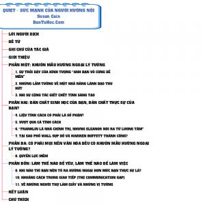 Download Quiet – Sức Mạnh Của Người Hướng Nội pdf